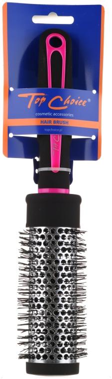 """Spazzola per capelli rotonda """"Neon"""" 37mm, 63718, nero con rosa - Top Choice — foto N1"""