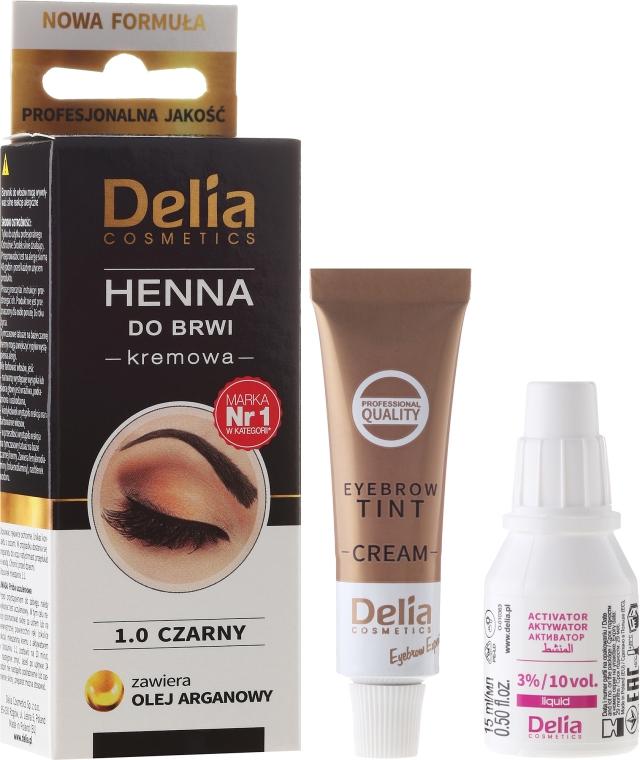 Crema-tinta per sopracciglia - Delia Cosmetics Cream Eyebrow Dye
