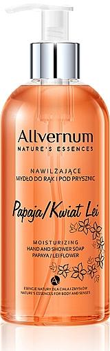 """Sapone per mani e doccia """"Papaia e fiore Leea"""" - Allverne Nature's Essences Hand And Shower Soap"""