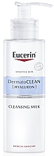 Profumi e cosmetici Latte detergente per pelli secche e sensibili - Eucerin DermatoClean Hyaluron Cleansing Milk