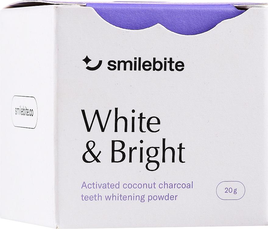 Polvere sbiancante per denti al carbone di cocco - Smilebite White & Brigh Coconut Charcoal Teeth Whitening Powder — foto N1