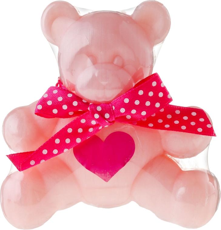 "Sapone alla glicerina ""Bear"", rosa - Chlapu Chlap Glycerine Soap"