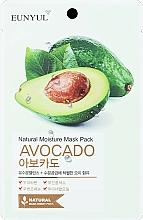 Profumi e cosmetici Maschera viso in tessuto idratante all'avocado - Eunyul Natural Moisture Mask Pack Avocado