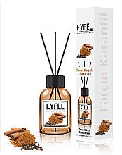 """Profumi e cosmetici Diffusore di aromi """"Cannella e chiodi di garofano"""" - Eyfel Perfume Reed Diffuser Cinnamon Clove"""