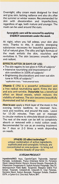 Maschera riparatrice - FlosLek Skin Care Expert Sphere-3D Morning Glow — foto N3