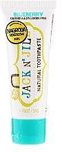 Profumi e cosmetici Dentifricio naturale con sapore di mirtillo - Jack N' Jill Natural Toothpaste Blueberry
