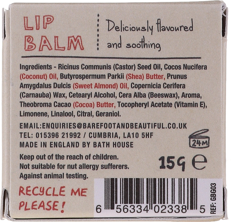 Balsamo labbra - Bath House Gin & Tonic Lip Balm Lemon & Juniper — foto N4