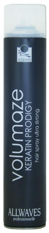 Lacca capelli, con cheratina - Allwaves Volumaze Keratin Prodigy Hair Spray Ultra Strong