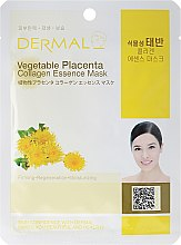 Profumi e cosmetici Maschera con collagene e amminoacidi - Dermal Vegetable Placenta Collagen Essence Mask