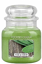 Profumi e cosmetici Candela profumata - Country Candle Sage and Cedar