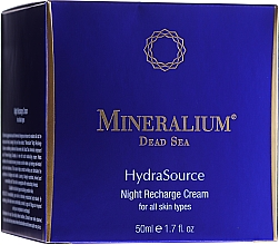 Profumi e cosmetici Crema da notte - Mineralium Hydra Source Night Recharge Cream