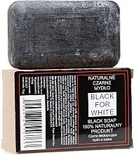 Profumi e cosmetici Sapone nero naturale - Biomika Black For White