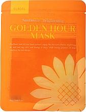 Profumi e cosmetici Maschera viso in tessuto schiarente - Elroel Golden Hour Mask Sunflower Brightening
