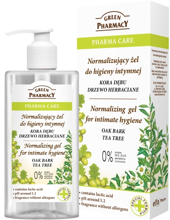 Gel per l'igiene intima - Green Pharmacy Normalizing Gel