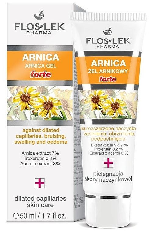 Gel all'arnica per capillari dilatati, lividi e gonfiore - Floslek Gel Arnica Forte