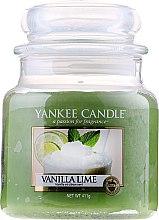 "Profumi e cosmetici Candela profumata in vetro ""Vaniglia e lime"" - Yankee Candle Vanilla Lime"