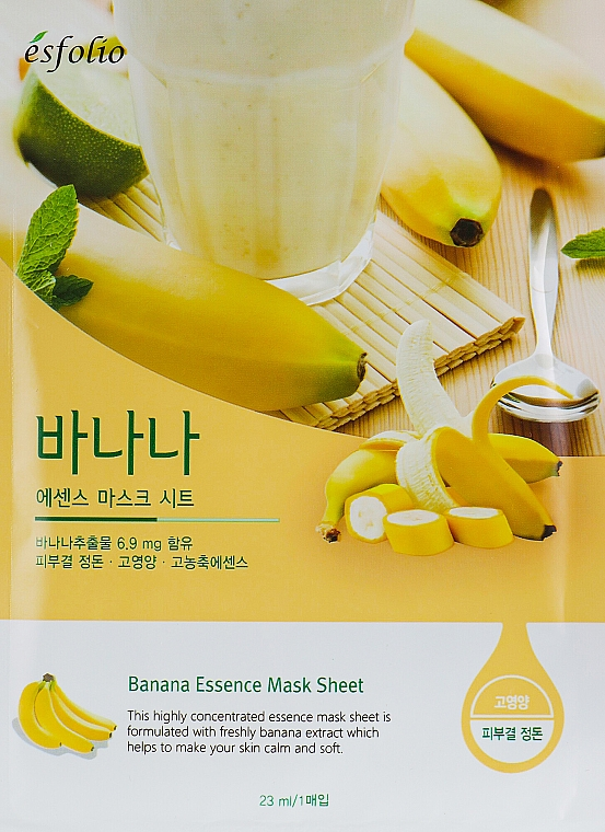 Maschera alla banana - Esfolio Essence Mask Sheet