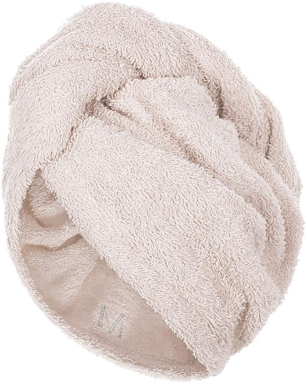 Asciugamano turbante, beige - MakeUp