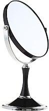 Profumi e cosmetici Specchio cosmetico bifacciale, 85642, nero - Top Choice