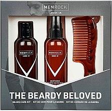 Profumi e cosmetici Set - Men Rock The Beardy Beloved Starter Nourishing Set (b/balm/100ml + b/soap/100ml + comb/1pcs)