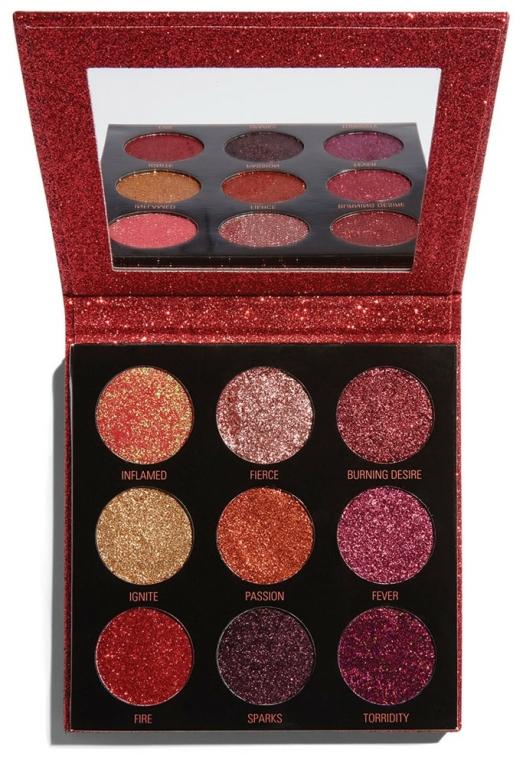 Palette ombretti glitter - Makeup Revolution Pressed Glitter Palette Hot Pursuit