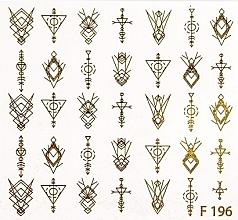 "Profumi e cosmetici Adesivi per nail design ""Ornament"" - Peggy Sage Water Decals Autumn 2020 (1pz)"