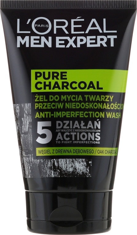 Gel-detergente viso - Loreal Paris Men Expert Pure Charcoal