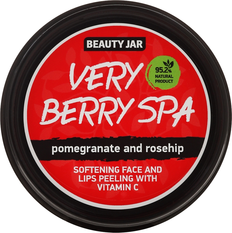 Scrub viso e labbra Very Berry Spa - Beauty Jar Softening Face And Lips Peeling With Vitamin C