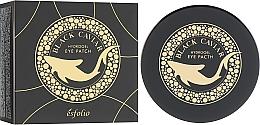 Profumi e cosmetici Patch occhi in idrogel con caviale nero - Esfolio Black Caviar Hydrogel Eye Patch