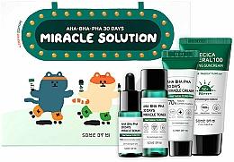 Profumi e cosmetici Set - Some By Mi AHA BHA PHA 30 Days Miracle Solution 4 Step Kit (sun/cr/25ml + ton/30ml + ser/10ml + f/cr/20g)