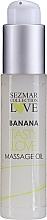 """Profumi e cosmetici Olio da massaggio """"Banana"""" - Sezmar Collection Love Banana Tasty Love Massage Oil (mini)"""
