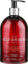 Profumi e cosmetici Sapone liquido per le mani - Baylis & Harding Black Pepper & Ginseng Hand Wash