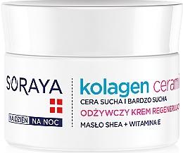 Profumi e cosmetici Crema nutriente viso, da notte - Soraya Kolagen i Ceramid Nourishing Cream