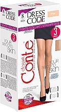"""Profumi e cosmetici Collant """"Dress Code"""" 8 Den, 3 pz, beige - Conte"""
