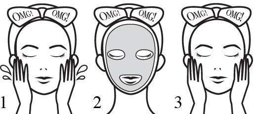 Maschera detergente bicomponente per viso - Double Dare OMG! 2in1 Kit Detox Bubbling Microfiber Mask — foto N3