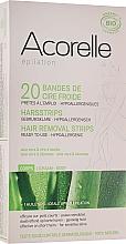 """Profumi e cosmetici Strisce depilatorie corpo """"Aloe e pappa reale"""" - Acorelle Hair Removal Strips"""
