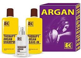 Profumi e cosmetici Set - Brazil Keratin Therapy Argan (shm/300ml + cond/300ml + oil/100ml)