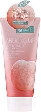Profumi e cosmetici Scrub corpo all'estratto di pesca - Welcos Around Me Natural Scrub Body Wash Peach