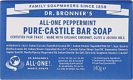 """Profumi e cosmetici Sapone """"Menta"""" - Dr. Bronner's Pure Castile Bar Soap Peppermint"""