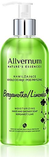"""Sapone per mani e doccia """"Bergamotto e Lime"""" - Allverne Nature's Essences Hand And Shower Soap"""