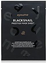 Profumi e cosmetici Maschera viso in tessuto idratante alla bava di lumaca - Ayoume Black Snail Prestige Mask Sheet