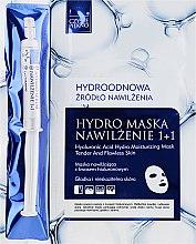 Profumi e cosmetici Maschera-siero viso - Czyste Piekno Hydro Mask Cloth Face Intensive Hydrating + Serum
