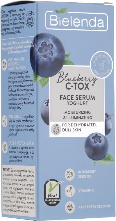 Siero di yogurt viso disidratato e opaco - Bielenda Blueberry C-Tox Face Yogurt Serum