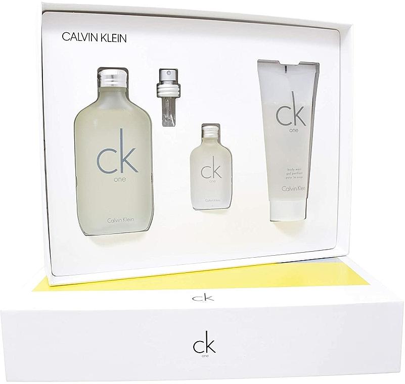 Calvin Klein CK One - Set (edt/100ml + sh/gel/100ml + edt/15ml) — foto N2