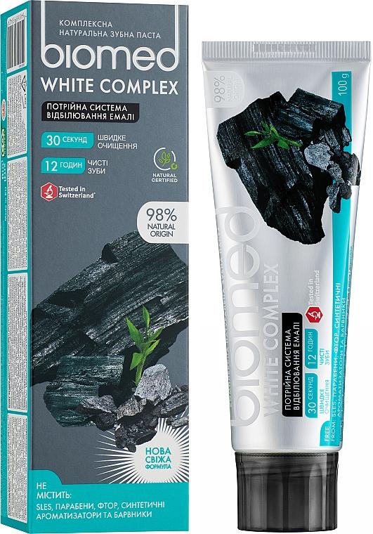"""Dentifricio """"Sistema tripla di sbiancamento smalto"""" - Biomed White Complex"""