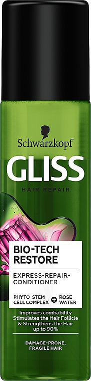 Spray-condizionante capelli - Schwarzkopf Gliss Kur Bio-Tech Restore