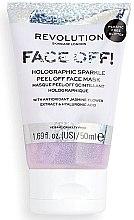 Profumi e cosmetici Maschera viso peeling - Revolution Skincare Face Off! Holographic Sparkle Peel Off Face Mask