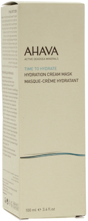 Maschera-crema idratante - Ahava Time to Hydrate Hydration Cream Mask