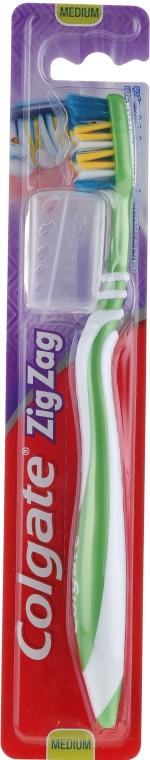 """Spazzolino da denti """"Zigzag plus"""" durezza media №2, verde - Colgate Zig Zag Plus Medium Toothbrush"""