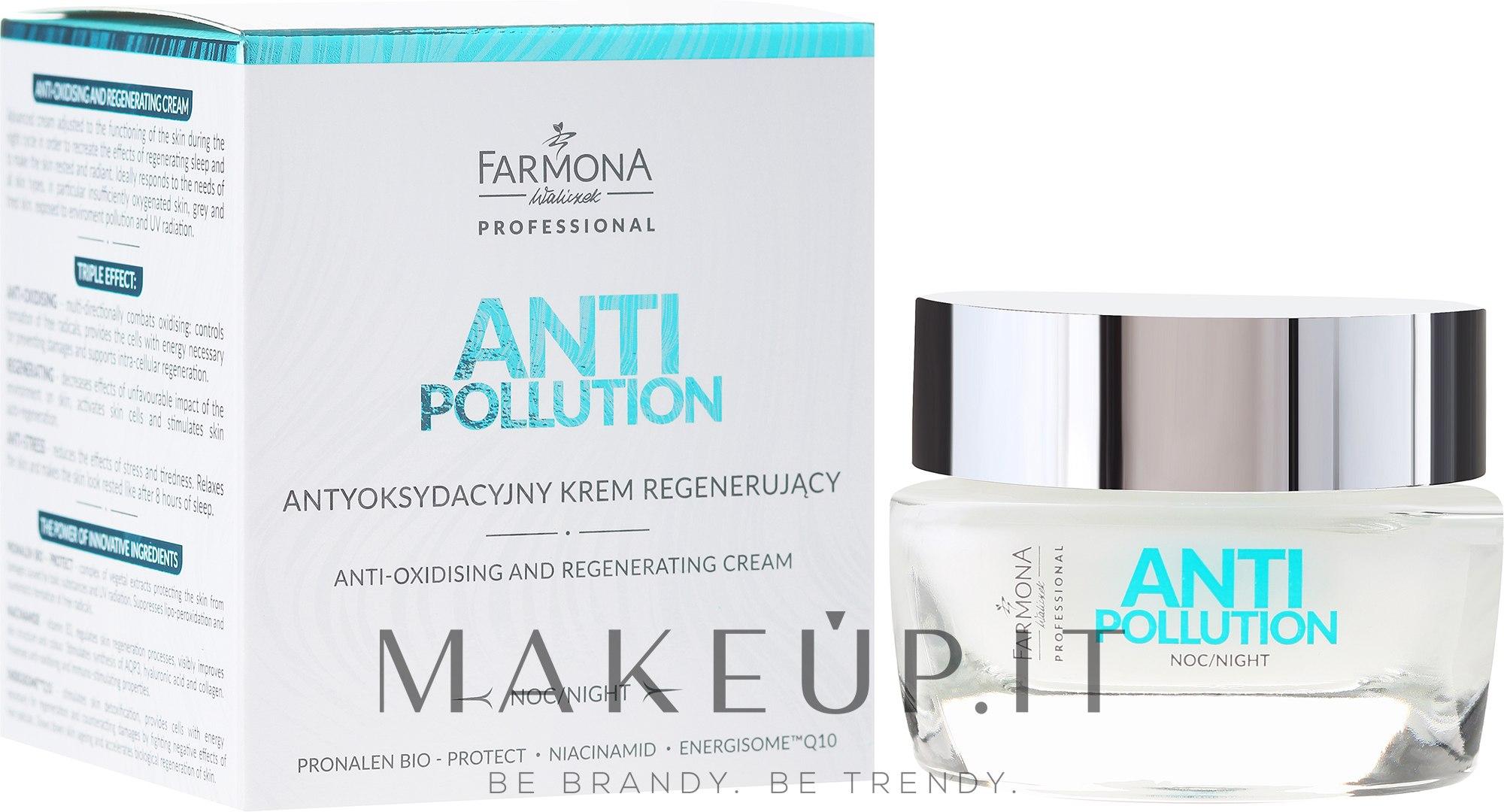Crema riparatrice antiossidante da notte - Farmona Anti Pollution Cream — foto 50 ml